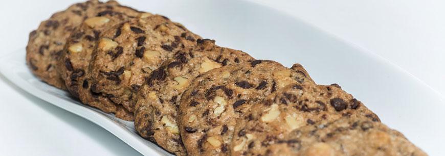 Cookies y chocolates con algas