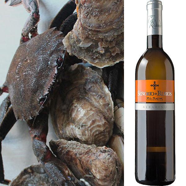 Mariscada gallega: Nécoras + Ostras + Vino Albariño