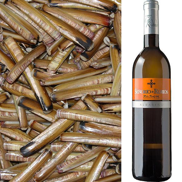 Navajas + Vino Albariño