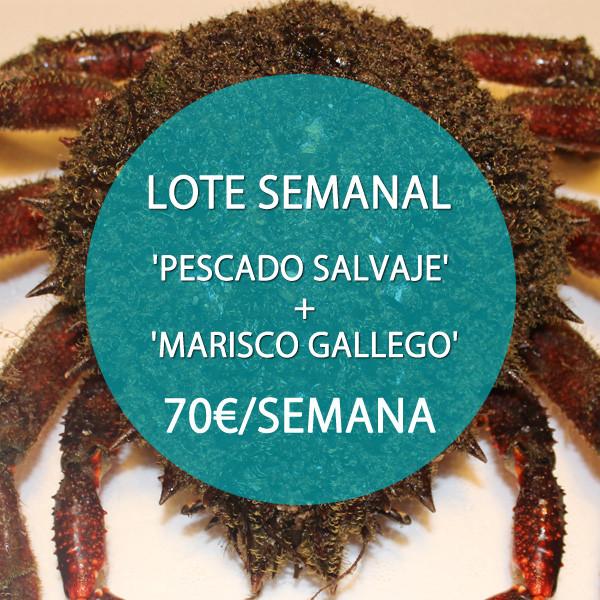 Lote: 'Pescado Salvaje' + 'Marisco Gallego' · 70 €/semana