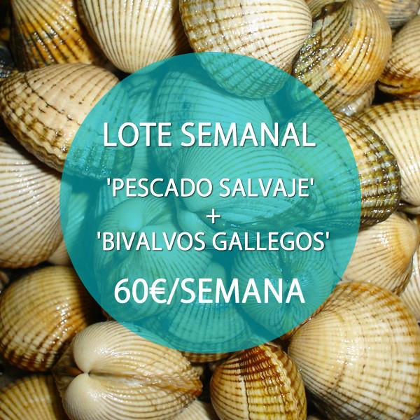 Lote: 'Pescado Salvaje' + 'Bivalvos' · 60 €/semana