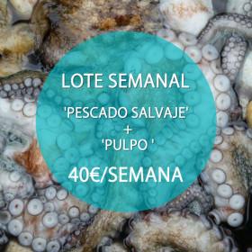 Lote: 'Pescado Salvaje' + Pulpo o Sepia · 40 €/semana
