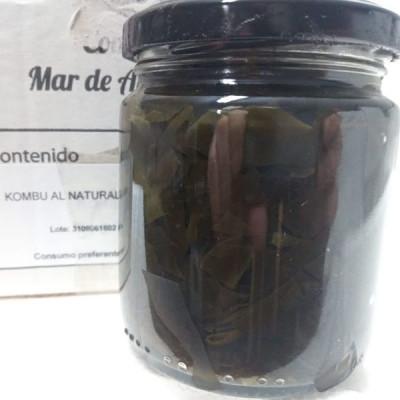 Alga Kombu 'al natural' en conserva. Tarro 120 g